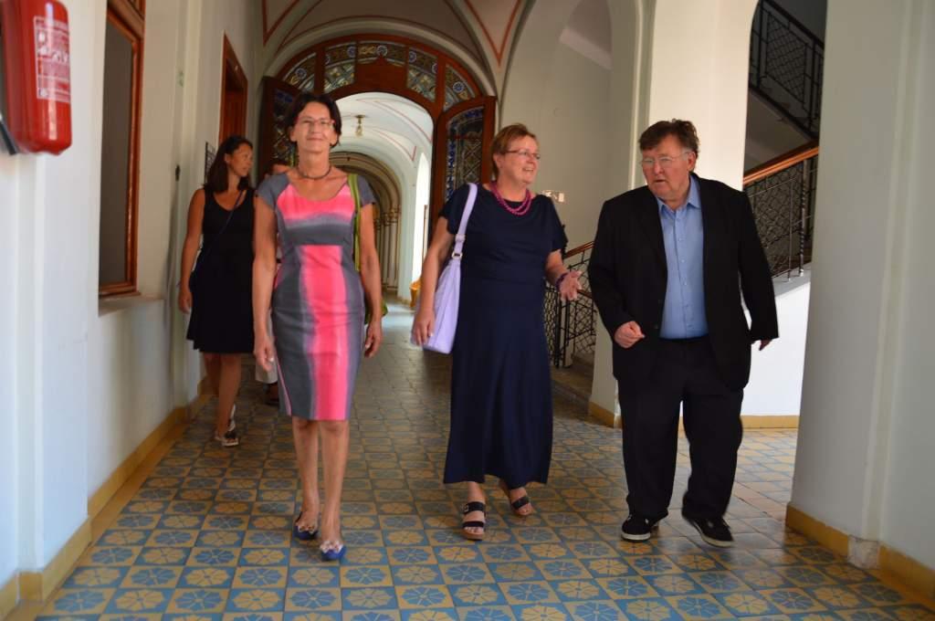 A Wojtyla Házba látogatott Ewa Filipiak – a városházán is fogadták