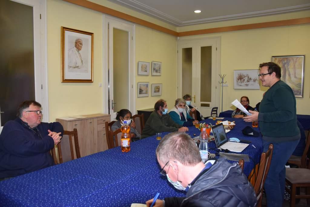 A koháryszentlőrinci lelkészség történetéről mesélt Hajagos Csaba a Wojtyla Házban