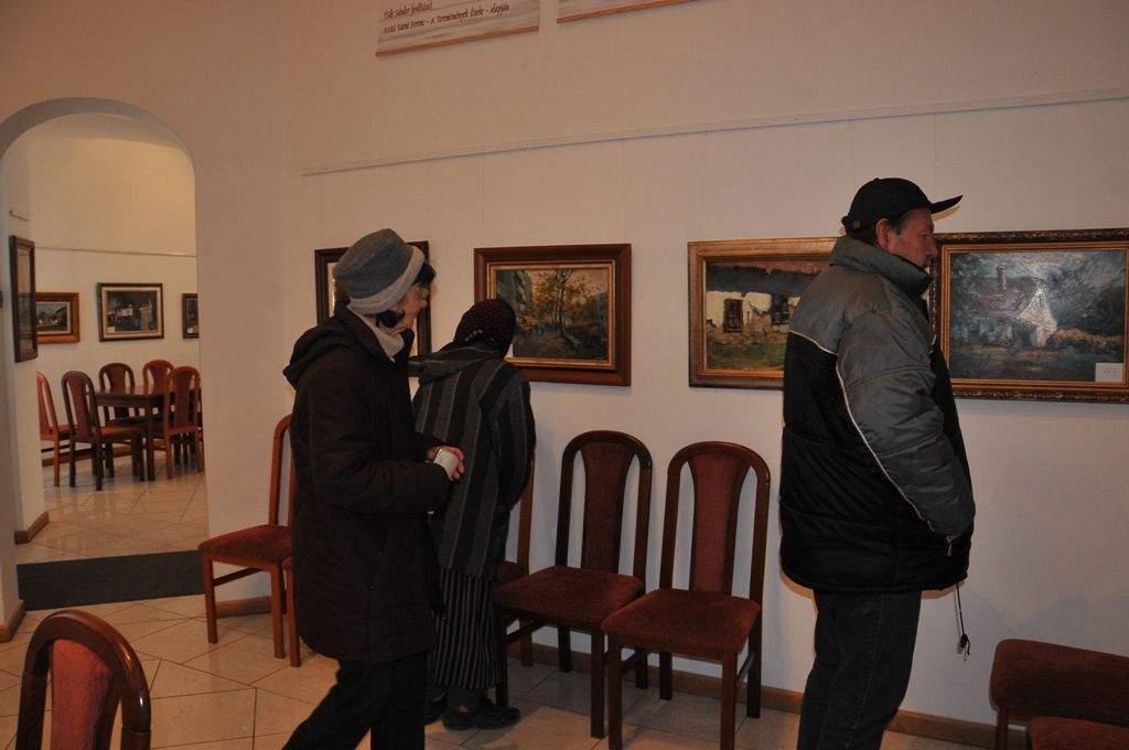 Gróf Zoltán kiállítását néztük meg nagy ámulattal