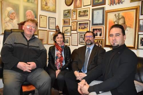 Dr. Fülöp Tamás rektor és munkatársai a Wojtyla Házban
